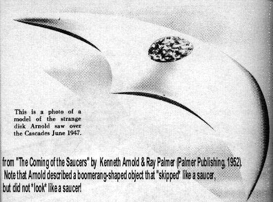 Kenneth Arnold's 'Saucer'